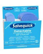 Plåsterrefill Salvequick Blue Detectable Fingertip Cederroth 6754 CAP