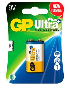 Engångsbatteri GP Ultra Plus 9V / 6LF22