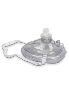 Andningsmask med ventil för hjärt-lungräddning