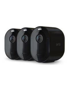 Trådlöst videoövervakningssystem Arlo Pro 4 - Startpaket med 3 kameror - Svart