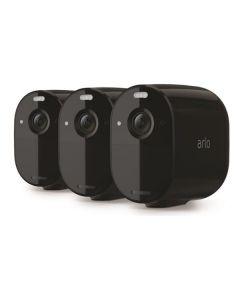 Trådlöst videoövervakningssystem Arlo Essential - Startpaket med 3 kameror - Svart