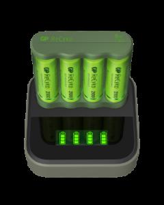 Laddstation GP ReCyko Everyday med 1 st batteriladdare och 4 st batterier