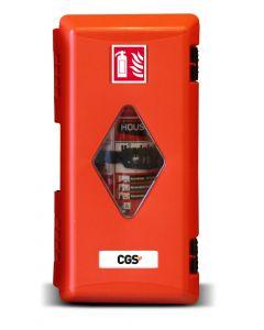 Brandsläckarskåp CGS PRO för 6 kg släckare med inspektionsfönster