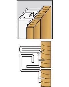 Brytskydd C-Profilen typ U (utåtgående) - Vit