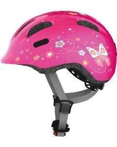 REA - Cykelhjälm för barn ABUS SMILEY 2.0 Pink Butterfly - Small