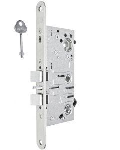 Enkelt låshus med förreglat cylinderfall och tryckesfall ASSA 721