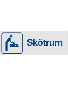 "Skylt ""Skötrum"" Aluminium"