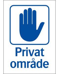 "Skylt ""Privat område"" A4"