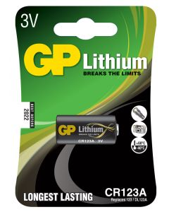 Batteri GP Lithium CR 123A
