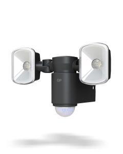 Trådlös utomhusbelysning GP Safeguard RF2.1 med rörelsesensor och två lampor