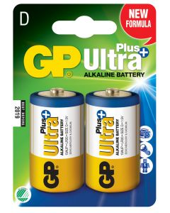 Engångsbatteri GP Ultra Plus D / LR20 2-pack
