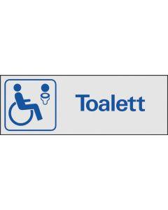 """Trivsel- och ordningsskylt """"Toalett kandikapp"""""""