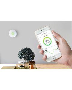 Radonmätare airthings Wave Produkt och app