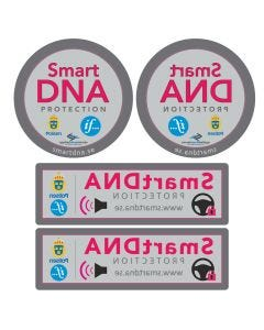 "Bildekaler ""SmartDNA Protection"" - 4 styck"