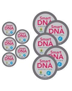 """Dekalpaket """"SmartDNA Protection"""" med 10 dekaler"""