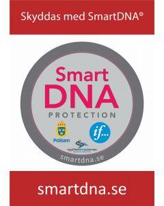 "Staketskylt ""Skyddas med SmartDNA"