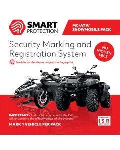 Stöldskyddsmärkning Smart Protection ISR till MC, ATV och skoter