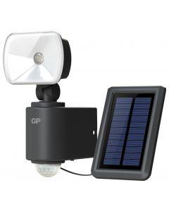 Trådlös utomhusbelysning GP Safeguard Hybrid med en lampa, rörelsesensor och solpanel