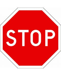 "Trafikskylt ""Stop"" Systemtext Stopplikt - B2"