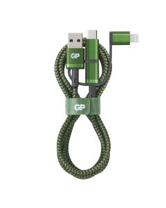 USB-kabel GP 3-i-1 - USB-A till USB-C, Micro-USB och Apple Lightning