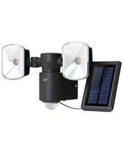 Trådlös utomhusbelysning GP Safeguard RF4.1H med två lampor, rörelsesensor och solpanel