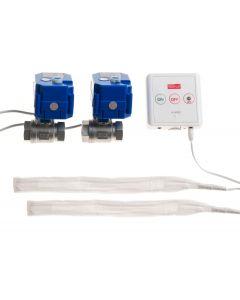 Läckagebrytare WaterFuse® Kök med centralenhet, två vattensensorer samt två vattenventiler